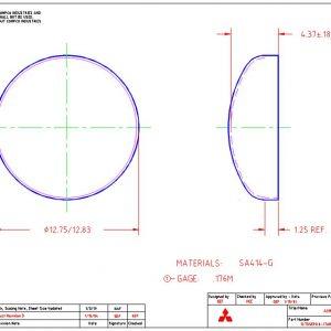 """12.75""""OD-.176""""MIN-1.25""""FL"""