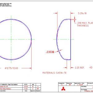 """12.75""""OD-.235""""MIN-2.25""""FL"""