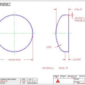 """16""""OD-.235""""MIN-2.25""""FL"""