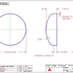 """24""""OD-.235""""MIN-2.25""""FL"""